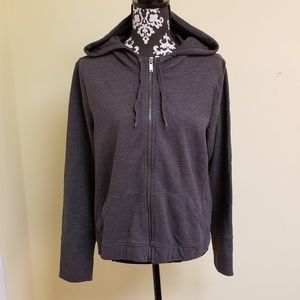 Banana Republic Zip Up Hooded Sweatshirt, sz L